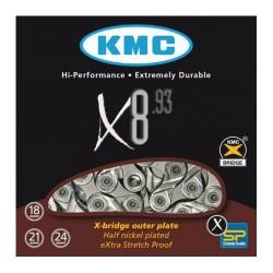 KETTING X8.93 8 SPEED 116L. ZILVER/GRIJS