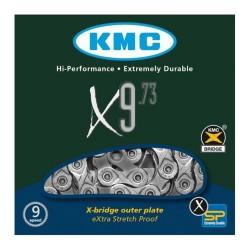 KETTING X9.73 9 SPEED 116L. ZILVER/GRIJS